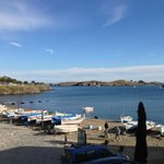 The small bay in front of Dali's house near Cadaques Spain