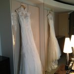 My Dress with the stunning pressed pearl wardrobe