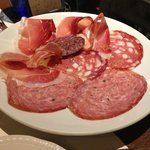 Antipasto of various cured meats