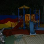 The featured playground was a drawcard for the kiddies