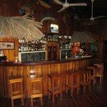 The bar at the main lodge
