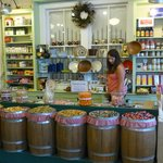 The Floyd Country Store - Some barrels filled with candy, etc.