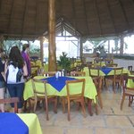 The open air restaurant