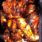Golden grilled chicken and porked chops