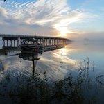 Sunrise on the Tagish Bridge