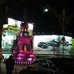 Clock tower light show