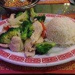 Chicken and broccoli, yum!