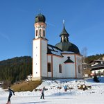 Seekirchl St. Oswald and Cross-country track at Olympic Region Seefeld