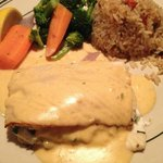 Halibut stuffed with crab