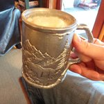 beer in an awesome, chilled mug