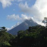 View of Arenal Volcano from Majestic Lodge deck