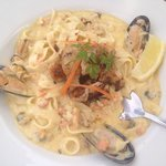 Seafood Pasta at The Links. Yummy