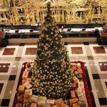 Giant X'mas tree in lobby