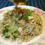 Vegetable fried rice - not on the menu, but can be asked for