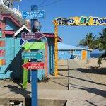 Entrance to Beachside Restaurant