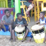 Kids playing the drums