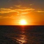 toller Sonnenuntergang vom Balkon aus