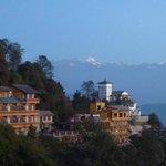 Vista dell'Himalaya dall'hotel