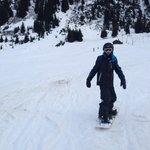 Sheran snowboarding