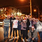 foto de grupo en la excursión Luces de Navidad junto a Fernando