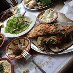 Mixed grill, hummus, pickle/veggie plate, Arabic salad and more!