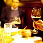 using wine glasses helps the beer's aroma