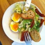 Salade Bacon / Oeufs Mollet