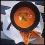 Tomato soup & grilled cheese sandwich