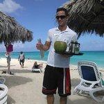 Osvaldo the service guy at the beach