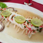 steamed squid with lime