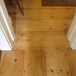 Old pine floors restored beautifully