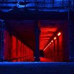 Lichtinstallation im Hüttenwerk
