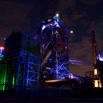 Lichtinstallation im Hüttenwerk173992906