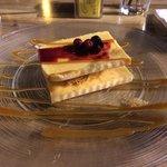 Creme brulee & kadaif dessert