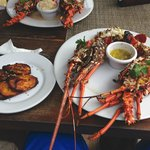 2 lb lobster with plantains