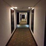 Hallway of each floor in the Crowne Plaza Santo Domingo!