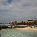 Hotellets strand och Santa Maria i bakgrunden!