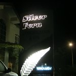 The sign at night