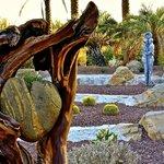 Art installations in gardens.