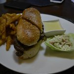 Philly Cheese Steak with CTC fries and blue cheese sauce (extra)