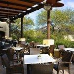 The restaurant patio.