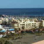 good views of the marina