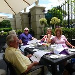 Alfresco dining with the very best waiters and FABULOUS steaks!!!