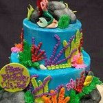 Mermaid cake!!