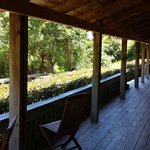 The veranda of the main lodge