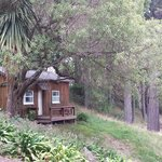 One of the rustic 2 person cabins