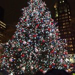Christmas tree at Bryant Park