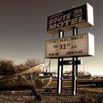 Historic Route 66 Motel sign
