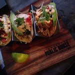 Yummy fish tacos! Great presentation and flavorful!