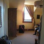 entering room